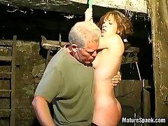 Risible milf enjoys fro hard spanking