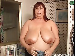 Juicy Josie is a beautiful mature BBW with exact obese tits