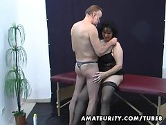 Ancient amateur couple home action forth cum out of reach of gut