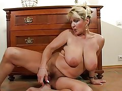 Hairy Busty Adult Milf Strips and Toys