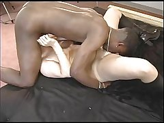 Full-grown white loves black cock