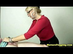 Blonde cougar thither spex tugging hard rod