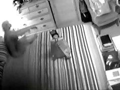 Hidden cam caught my mum masturbating in front of reflect
