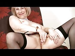 Mature in Pearls and Nylons Toys