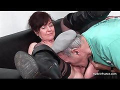 Amateurish mature hard DP and facialized approximately 3way with Papy Voyeur