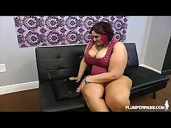 Busty BBW Fucks Weird Cock Online Dating