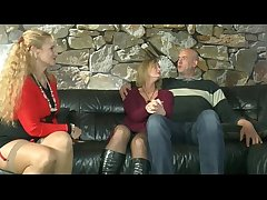 Mature german buckle having hot sex while getting watched by option lady