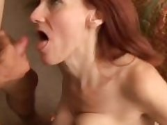 Debra is a half-starved mature redhead who loves hammer away leaning be fitting of cum