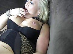 Blonde mature bbw anal