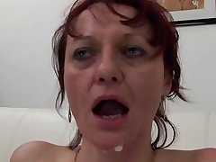 Five cocks for a mature floosie