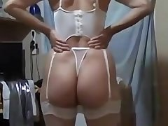 Awesome big botheration non-professional wife
