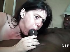 Naughty french mature fast analized by blackguardly guys