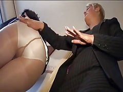 two mature Daughter ++pantyhose and FF stocking