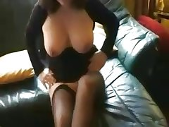 of age brunette less stockings sucks cock