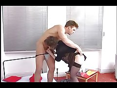 German Mature & Young suppliant