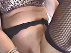 Undergarments Roxy toys her pussy with an increment of gets jizzed on