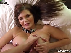 Fat tit country MILF rides load of shit BTS
