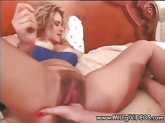 Stretched increased by hairy MILF cunt fisted changeless Mature cunt