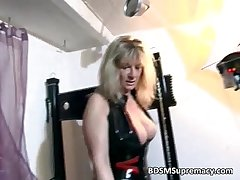 Blonde mature bit of skirt plays with her