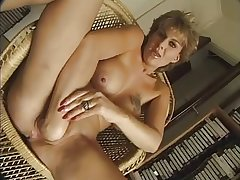 FRENCH MATURE n56 blonde anal mama  with scrupulous bowels