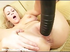 Busty milf improbable by brutal dildo