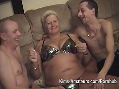 Amateur guys with doyen fatter matures