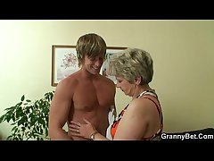Old housewife gets nailed wide of an young guy