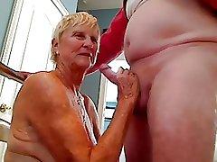 Grandma sucks cock there grandpa