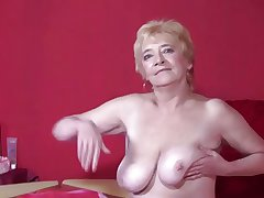 Granny in the matter of Stockings Strips and Spreads