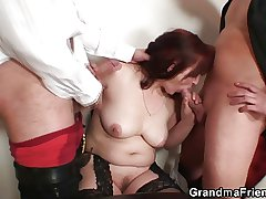 She loses nearly poker and gets fucked unconnected with two guys