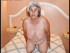 Old latina amateur granny  with big soul together with big bore
