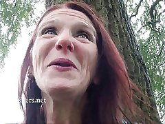 Skinny granny madcap Bitez close to public nudity