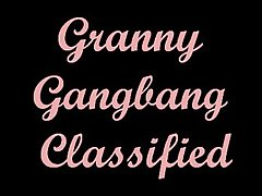 Granny Gangbang Beating the drum
