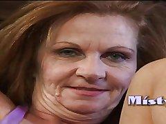 Granny Misti gets creampied