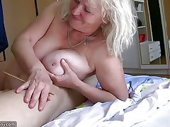 OldNanny Mature coupled with old Granny coupled with their boyfriend threesome
