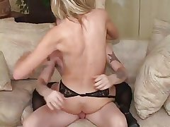 Hot Blonde Granny Keri Banging Young Board