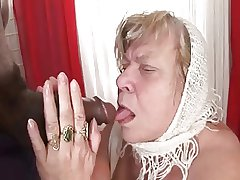Big Knocker BBW Granny Takes Dark Meat