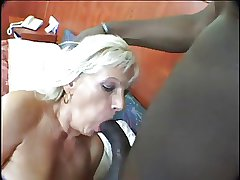 Blonde Mature Dildo and Eternal Black Bushwa