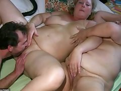 Old chubby Granny has kneading foreigner BBW mature Nurse