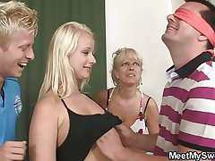 Hot teenie seduced by her BF's mom with the addition of dad