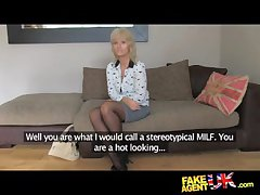 FakeAgentUK Grown up MILF wants young pencil cock primarily demand - HardSexTube