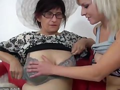 OldNanny Skinny old grannies coupled with young good-looking girls is masturbating