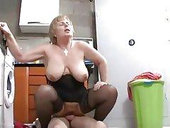 Granny fucks dramatize expunge repairman