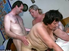 OldNanny Chubby adult together with chubby milf is enjoying threesome