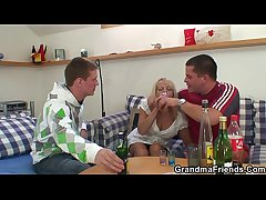 Blonde granny there hot trio orgy