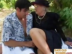 Picnic with reference to British granny and young chap