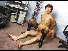 Tiny Tits Big Pussy Granny nearly Stockings Fucks