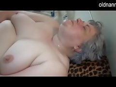 Old well-endowed granny playing all round skinny girl
