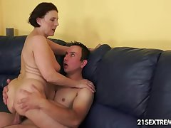 Cock-hungry GILF Margo with the addition of her newest boy toy