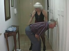 Sexy Teen fucks just about older Couple